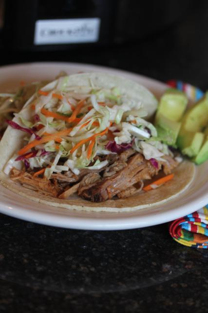 Slow Cooked Pulled Pork with Mexican Coleslaw - Lynn's Kitchen ...