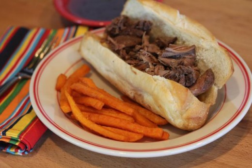 Slow Cooked Roast Beef Sandwiches with Easy Au Jus -