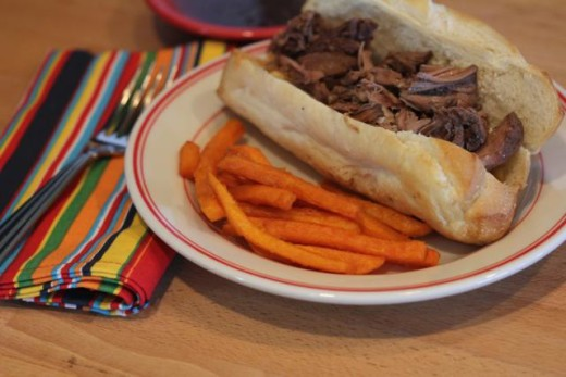 Slow Cooked Roast Beef Sandwiches with Easy Au Jus_