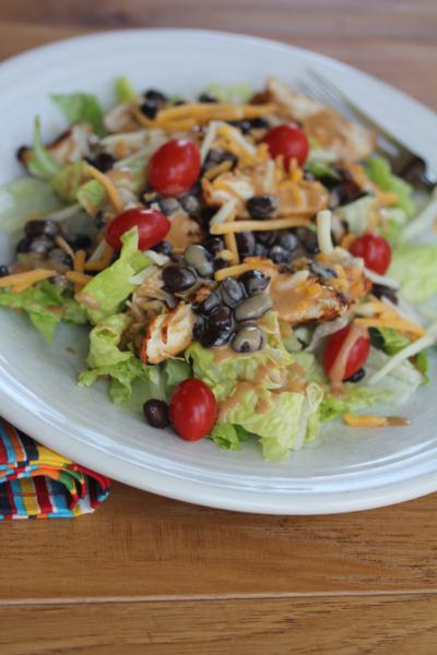 Barbecue Ranch Chicken Salad
