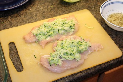 Evie's Zucchini Stuffed Chicken 2