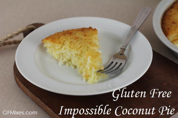 Gluten Free Impossible Coconut Pie