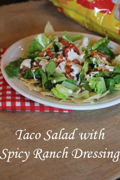 Taco Salad with Spicy Ranch Dressing