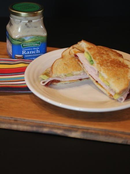 Bacon, Turkey, Avocado, Ranch Grilled Cheese Sandwich