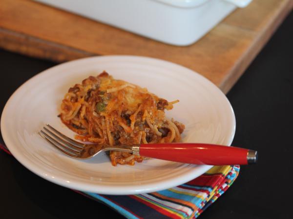 BBQ Baked Spaghetti_