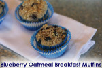 Blueberry Oatmeal Breakfast Muffins  -