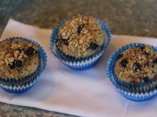 Blueberry Oatmeal Breakfast Muffins-