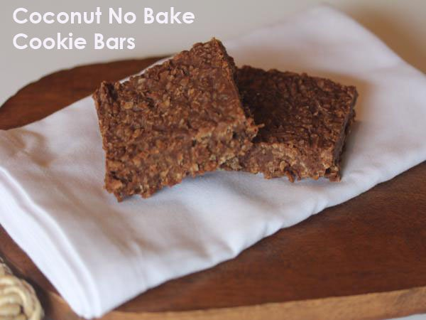Coconut No Bake Cookie Bars