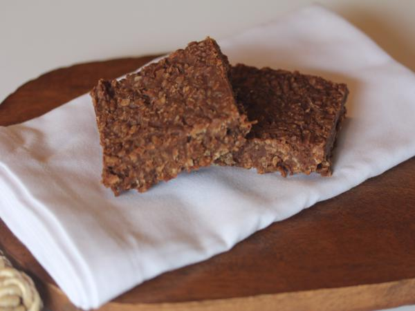 Chocolate Coconut No Bake Bars_