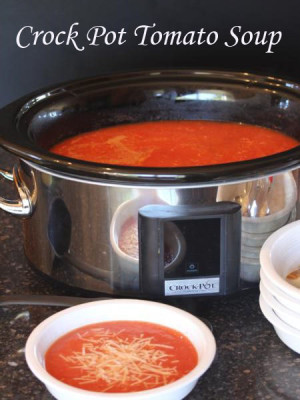 Crock Pot Tomato Soup from LynnsKitchenAdventures.com