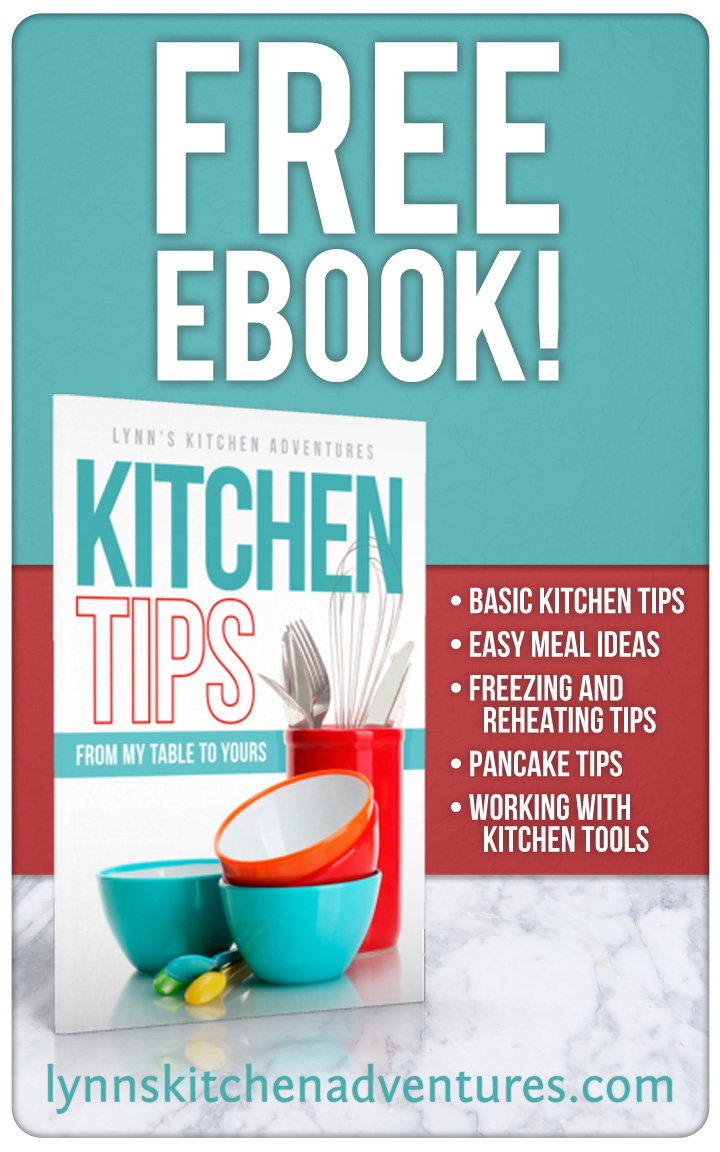 Free Kitchen Tips ebook and a Thank You
