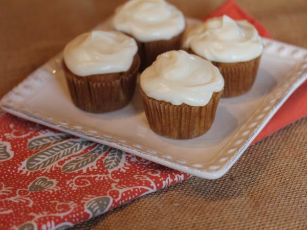 Gluten Free Carrot Cake Cupcakes -