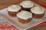 Gluten Free Carrot Cake Cupcakes with Cream Cheese Frosting
