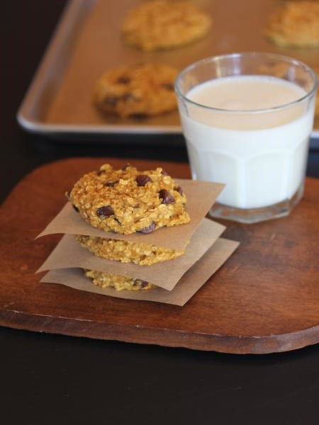 Pumpkin Oatmeal Breakfast Cookies-