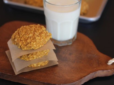 Pumpkin Oatmeal Breakfast Cookies -_
