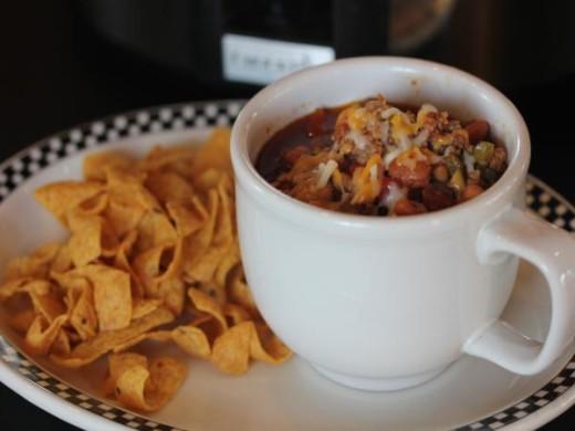Slow Cooked Three Bean Chili-