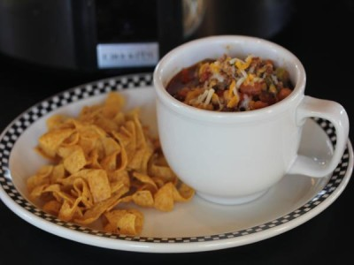 Three Bean Slow Cooked Chili-
