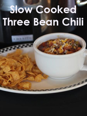 Three Bean Slow Cooked Chili