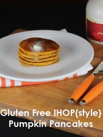 gluten free IHOP style pumpkin pancakes