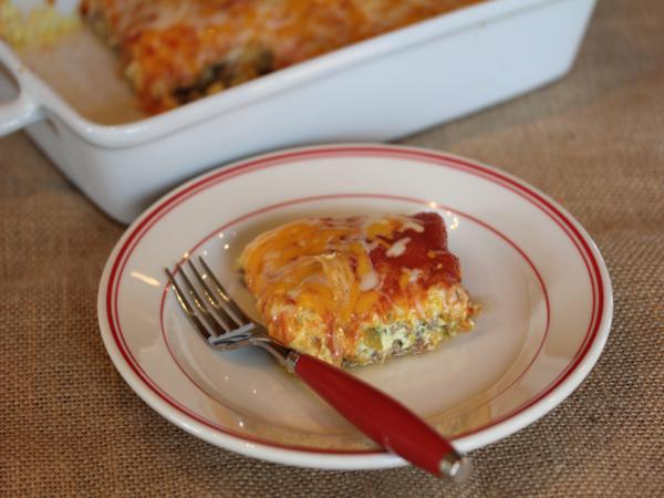 Breakfast Chili Relleno Casserole from LynnsKitchenAdventures.com