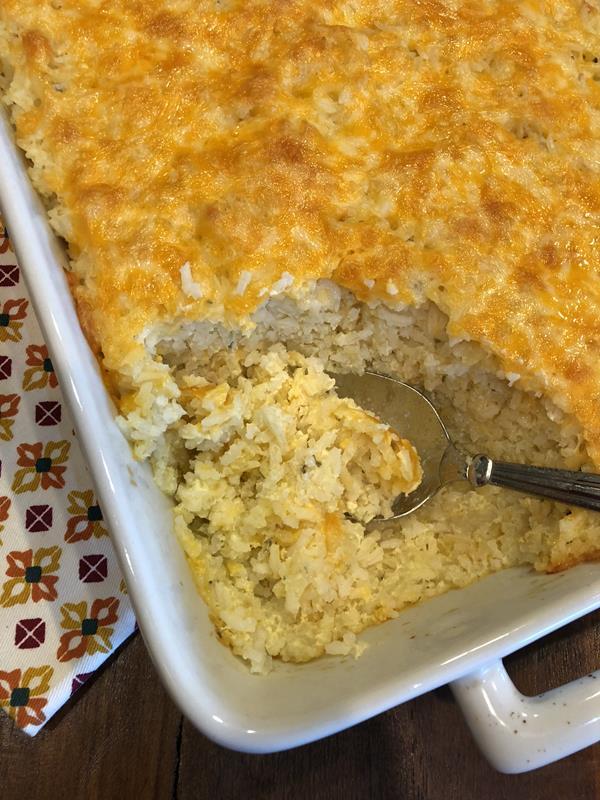 Cheesy Baked Rice