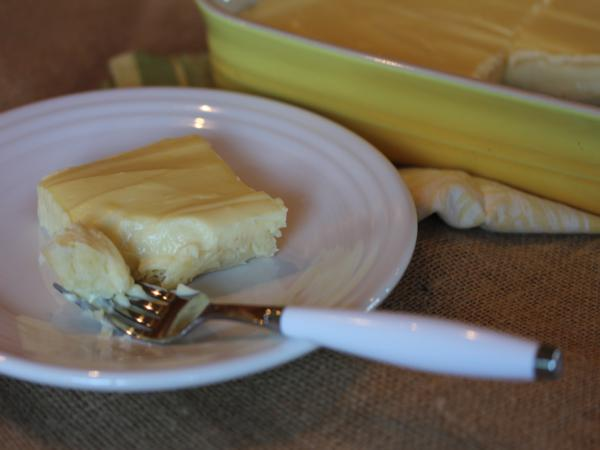 Creamy Lemon Pie Squares from LynnsKitchenAdventures.com