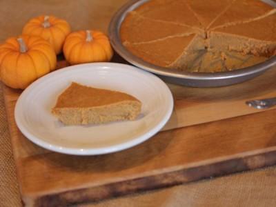 Crustless Pumpkin Pie from LynnsKitchenAdventures.com