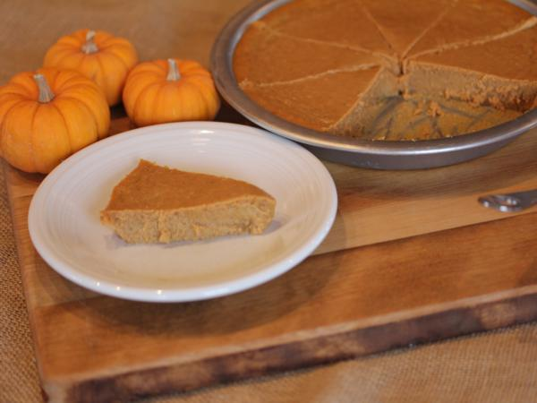 Crustless Pumpkin Pie from LynnsKitchenAdventures.com