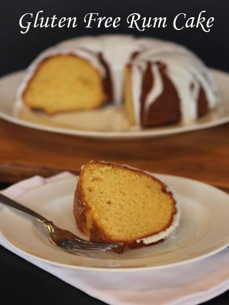 Gluten Free Rum Cake from LynnsKitchenAdventures.com