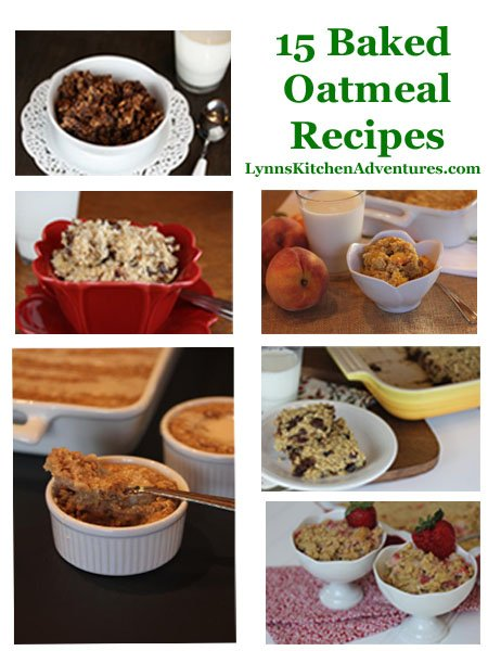 Baked Oatmeal Recipes from LynnsKitchenAdventures.com
