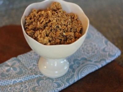 Maple Cinnamon Homemade Granola -