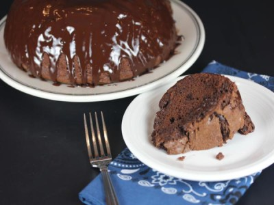 Gluten Free Chocolate Bundt Cake from LynnsKitchenAdventures.com