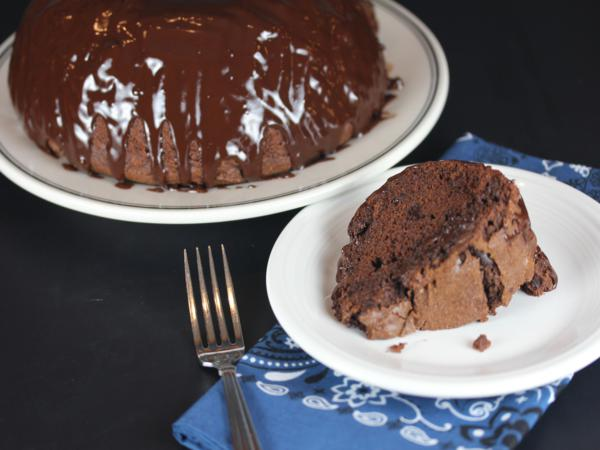 Gluten Free Chocolate Bundt Cake from LynnsKitchenAdventures.com