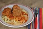 meatball and spaghetti