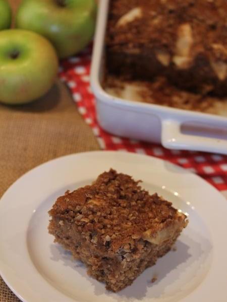 gluten free apple coffee cake-