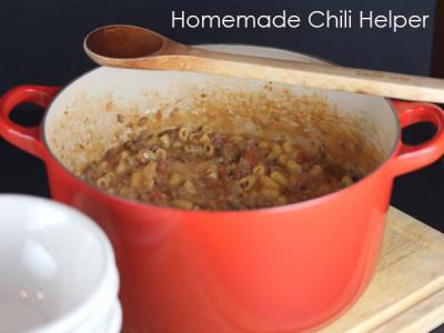 Homemade Chili Hamburger Helper from LynnsKitchenAdventures.com