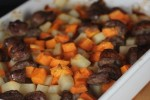 Maple Sweet Potatoes and Sausage