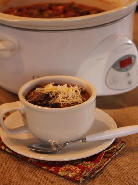 slow cooked quinoa taco soup-