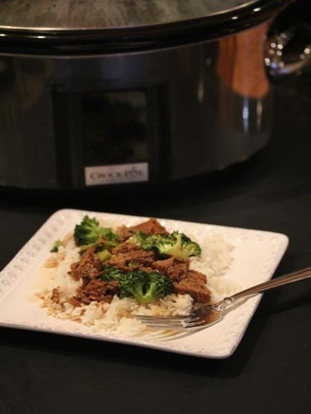 Slow Cooked Broccoli Beef -