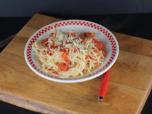 Spaghetti with Simple Tomato Sauce