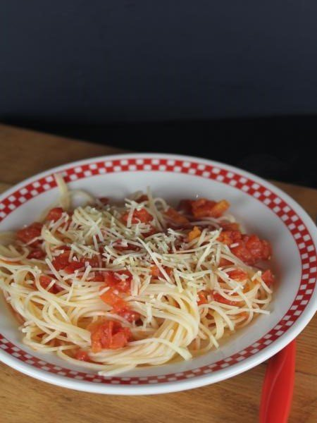 Spaghetti with Simple Tomato Sauce_