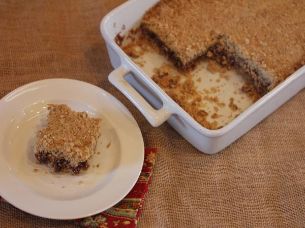 Chocolate Oatmeal Raisin Bars-