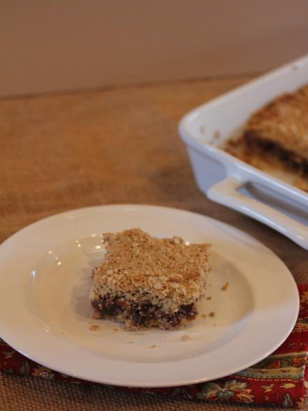 Chocolate Oatmeal Raisin Bars_