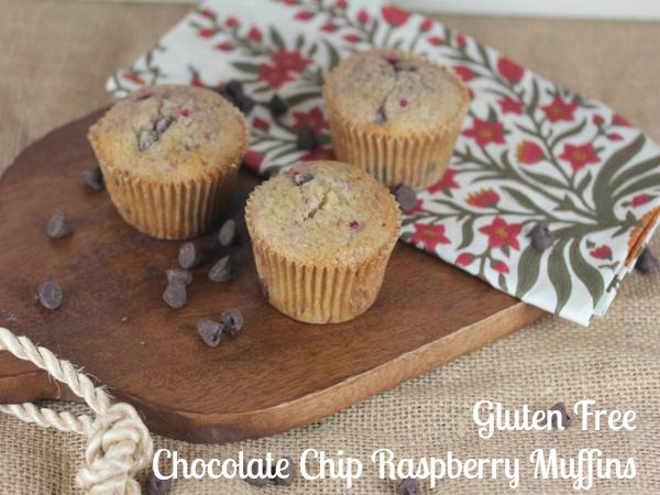 Gluten Free Chocolate Chip Raspberry Muffins