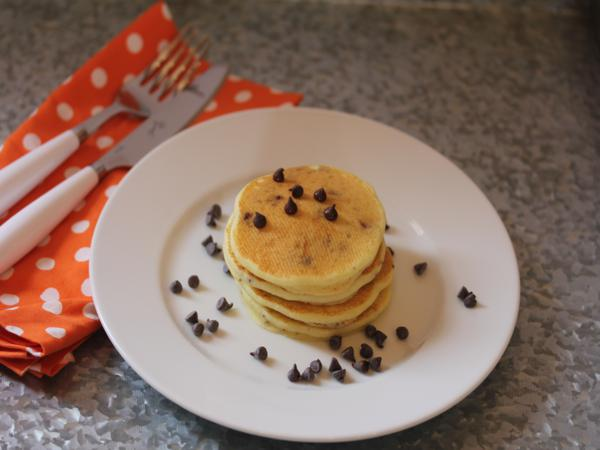Gluten Free Orange Chocolate Chip Pancakes