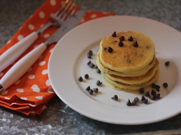 Gluten Free Orange Chocolate Chip Pancakes__