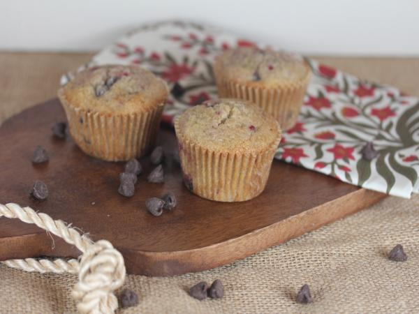Gluten Free Raspberry Chocolate Chip Muffins-