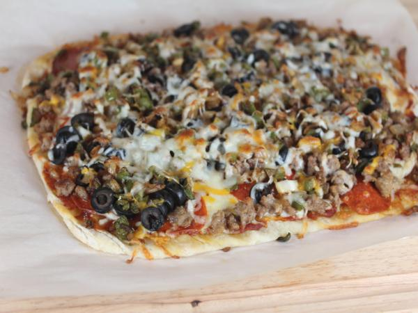 Homemade Supreme Pizza-