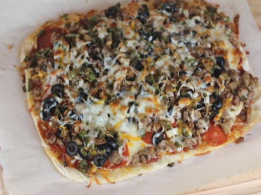 Homemade Supreme Pizza_