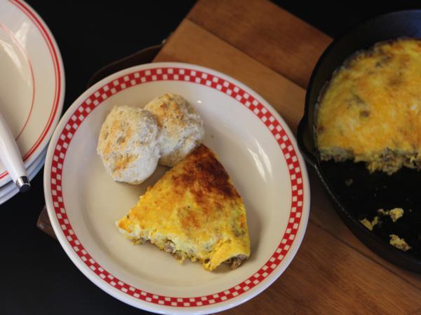 Sasuage and Cheese Custard-